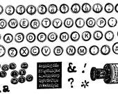 Remington Typewriter Key Alphabet - unmounted rubber stamps