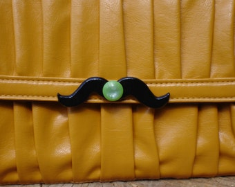 Mustachio Mustard Clutch Clearance Priced!