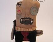 Handmade Grungy lil Vampire Monster (EDGAR)