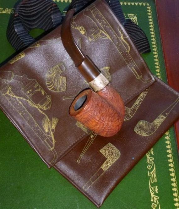 Vintage Savinelli  Capri Root Briar Tobacco Pipe with a Tobacco Pouch