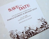 AUGUSTINE Square Save the Date Cards