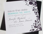 VIOLET Square Save the Date Cards