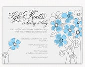 baby shower invitations, boy or girl . . . bouquet