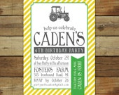 Tractor birthday invitation, tractor birthday party invitation, custom birthday invitation, vintage tractor
