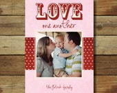 Photo Valentine's Day Card - love one another