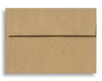 A7 envelopes, kraft or brown - perfect for 5 x 7 photos and cards, GROCERY BAG