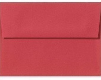 red A7 envelopes - perfect for 5 x 7 photos and cards, quantity 25, HOLIDAY RED