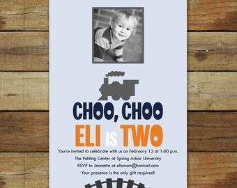 choo choo train birthday party, train birthday invitation, printable train party