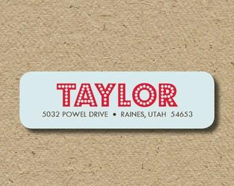 Custom return address labels, self-adhesive - Modern lights