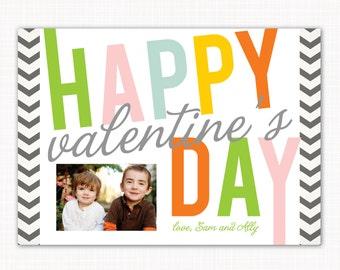 Valentine's Day Photo Card - zig zag