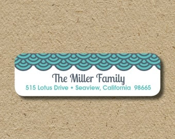 Return address labels, self-adhesive address stickers - modern loops