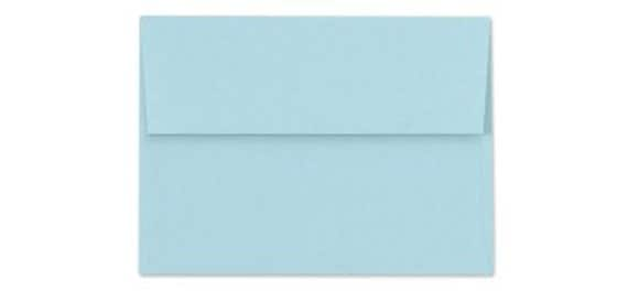 A7 envelopes - perfect for 5 x 7 photos and cards, quantities of 25, PASTEL BLUE - CLEARANCE