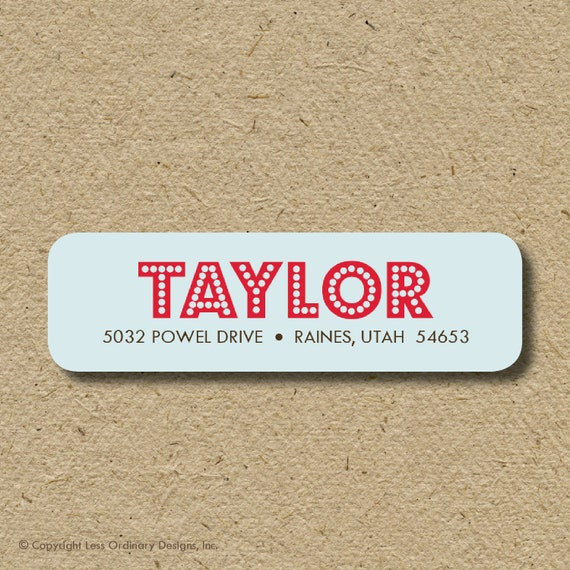 Custom return address labels, self-adhesive - Modern lights
