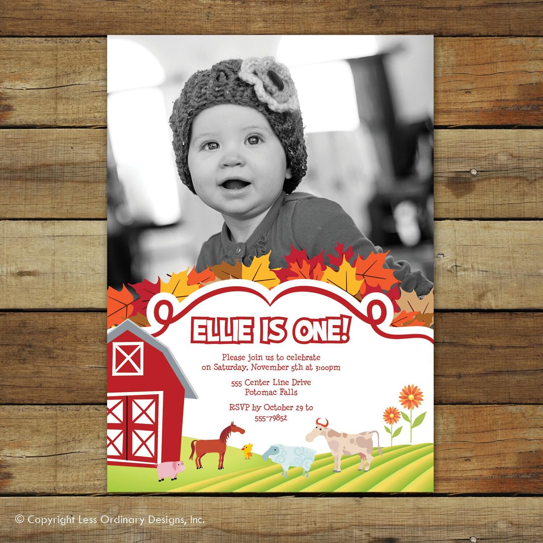 barn yard birthday invitation farm birthday party invitation