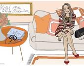Custom Illustrated Blog or Website Header