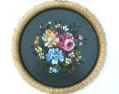 Vintage Floral Tole Tray - Nashco New York
