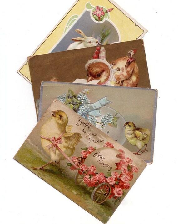 Antique Easter Postcards - 1913 - Group 10