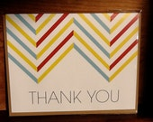 Chevron Thank You Card Set