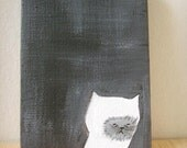 original painting canvas painting- ghost cat