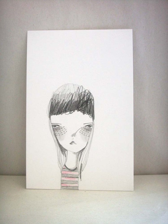 drawing illustration portrait girl original-remembering/ typhoon haiyan/yolanda relief