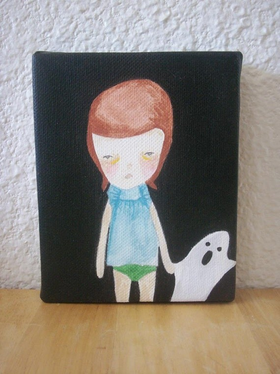 original painting canvas-ghost friend