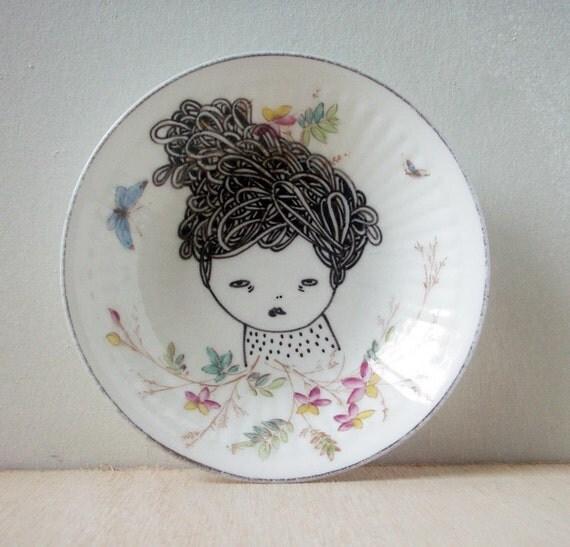 hand drawn plate