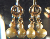 little dangle pearl earrings