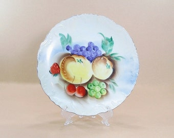 Vintage Plate, Wall Plate, Hanging Kitchen Plate, Kitchen Decor, Decorative Plate