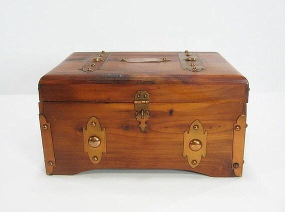 RESERVED LISTING 1926 Sturdi Cedar Chest Box With Copper Trim
