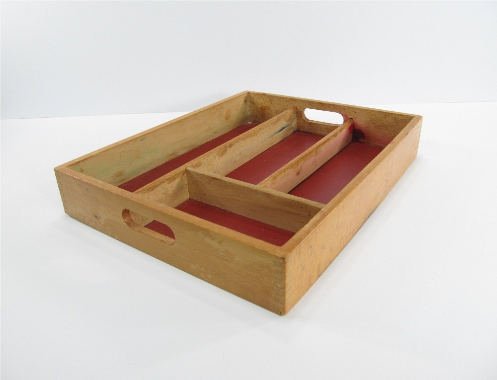 Vintage wooden desk drawer organizer - Desk drawer organizer ...