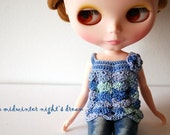 Blythe - Seashell top summer version - hydrangea