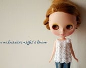 Blythe - Seashell top summer version - meringue white
