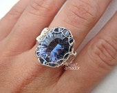 Jewelry Tutorial - Netted Bezel Ring - Step by Step Instructions