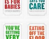 Set of 4 Subliminal Baby Prints