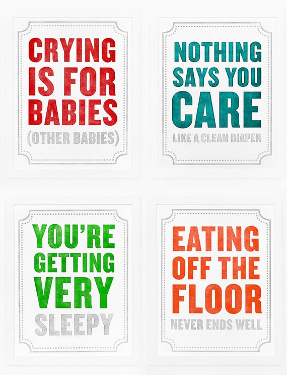 Set of 4 Subliminal Baby Prints