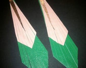 """The """"Native Anpaytoo"""" leather earrings (Click to see MORE colors)"""