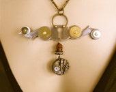 Steampunk Jewelry -  Memento Mori Necklace