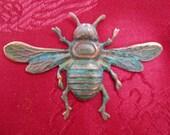 Verdigris Steampunk Bee Tie Tack