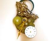 Victorian Mermaid Steampunk Necklace,  mermaid Jewelry, Steampunk Jewelry, Victorian Jewelry, OOAK, Found object jewelry