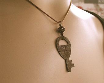 Pendant Steampunk Key Necklace, Steampunk Jewelry, Steampunk, Steam Punk, Key Jewelry, Key Pendant, Key Necklace
