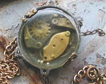 Pendant, Steampunk Necklace, Child's Play, Steampunk, Steampunk Jewelry, Steampunk Pendant, OOAK, watch part jewelry, found object jewelry