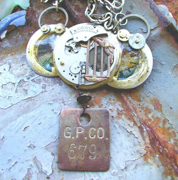Steampunk Necklace - Prisoner of Time