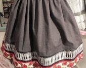 Harmony Rose Music Note Skirt - Sz Small