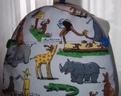 My Carrie Toddler Backpack made with Curious George Goes to the Zoo Fabric