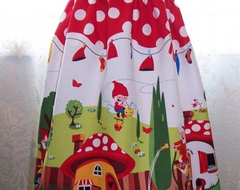 My Carrie Custom Boutique Shirred Gnomeville Dress