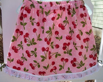 My Carrie Girl's Pink Cherry Custom Boutique Skirt