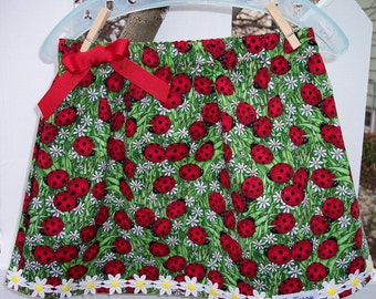 My Carrie Girl's A-Line Ladybug Skirt Size 2 Ready to Ship