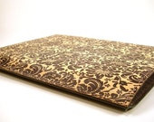 Vintage Damask Pattern. Leather iPad Case, Hand Made.