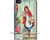 iPhone 4 Case or iPhone 5 Case - Little Red Riding Hood - Snap case for iPhone 4 /4S/5.