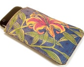 iPhone 5 Case. Tiger Lily. Size can be Customized to fit any cellphone.